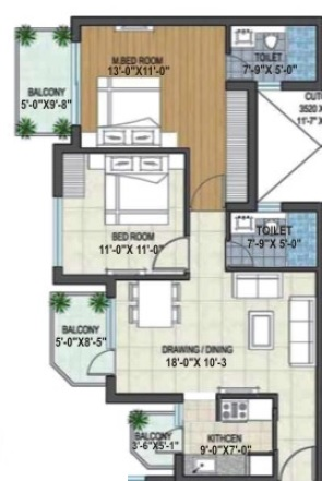 rishita manhattan apartment 2bhk 717sqft 1