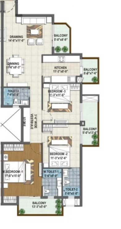 rishita manhattan apartment 3bhk 1052sqft 1