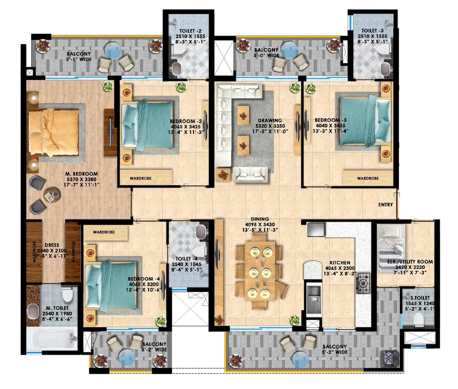 rishita manhattan apartment 4 bhk 2460sqft 20214008174043