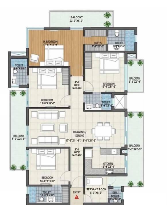 rishita manhattan apartment 4bhk sq 1636sqft 1