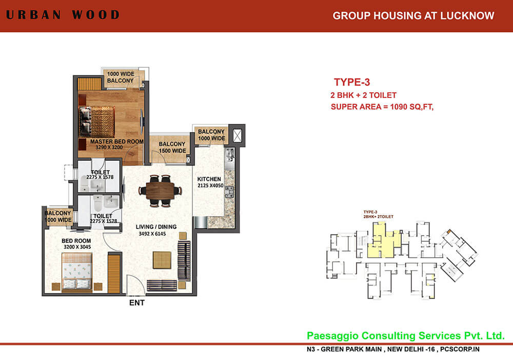 tulsiani urban woods apartment 2bhk 1090sqft1