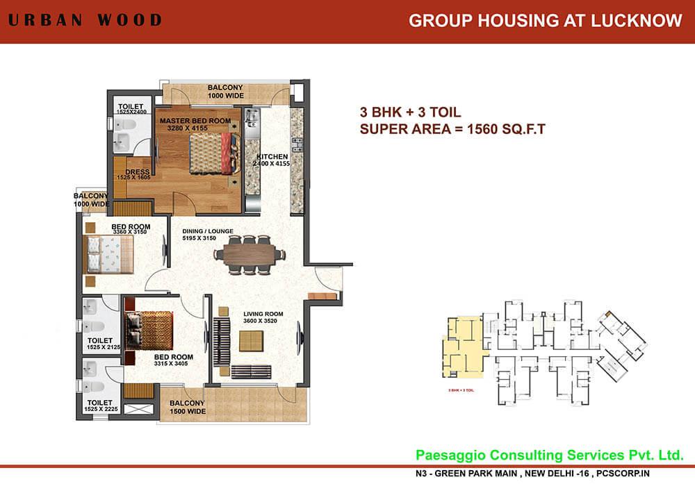 tulsiani urban woods apartment 3bhk 1560sqft1