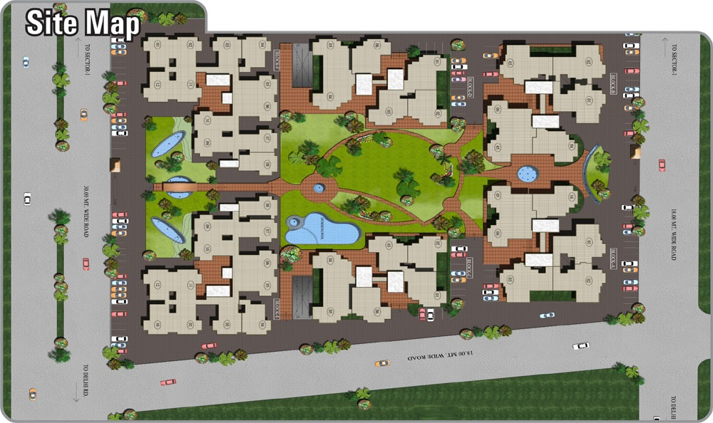 supertech palm greens project master plan image1
