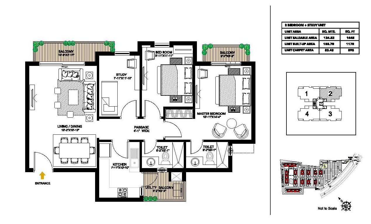 alpha g corp meerut one apartment 2 bhk 1448sqft 20204730114704