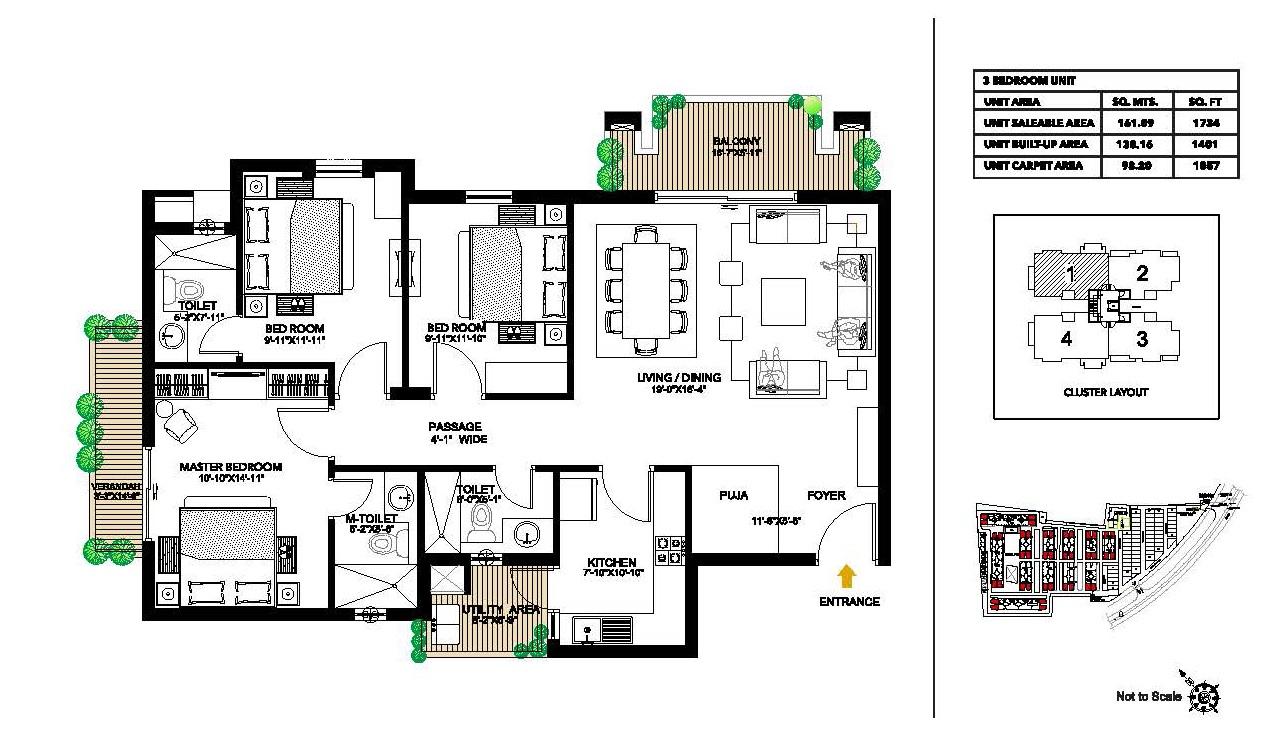 alpha g corp meerut one apartment 3 bhk 1734sqft 20204630114652