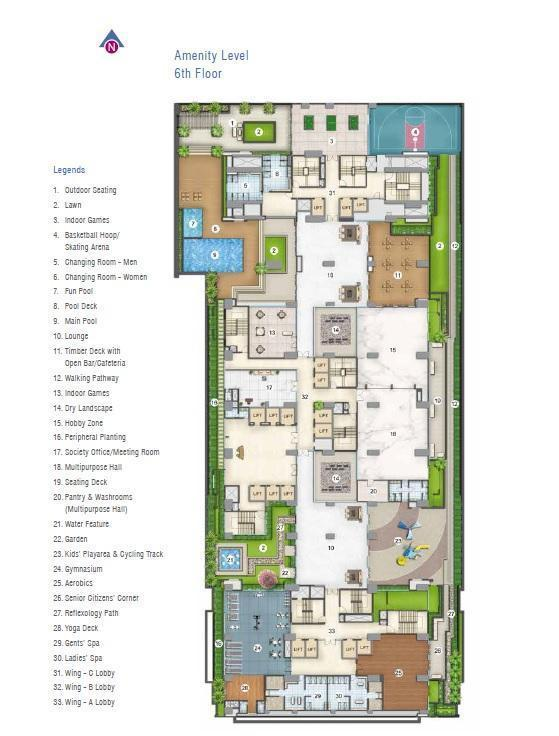 adani western heights sky apartments master plan image1