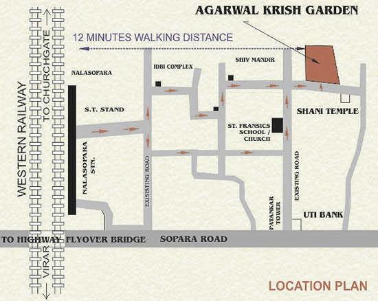 agarwal krish garden project location image1