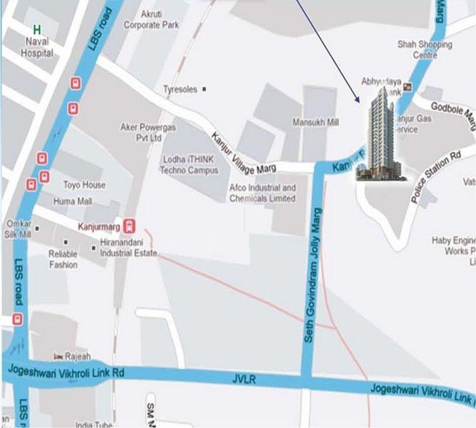 ajmera nirvana project location image1