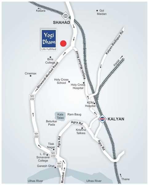 ajmera yogidham sapphire project location image1