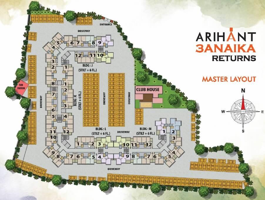arihant anaika phase 3 master plan image1