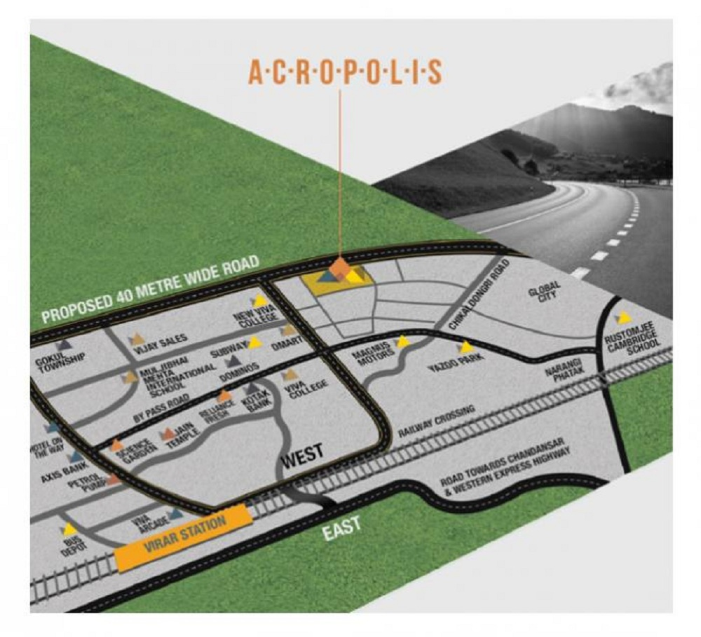 bhoomi acropolis project location image1