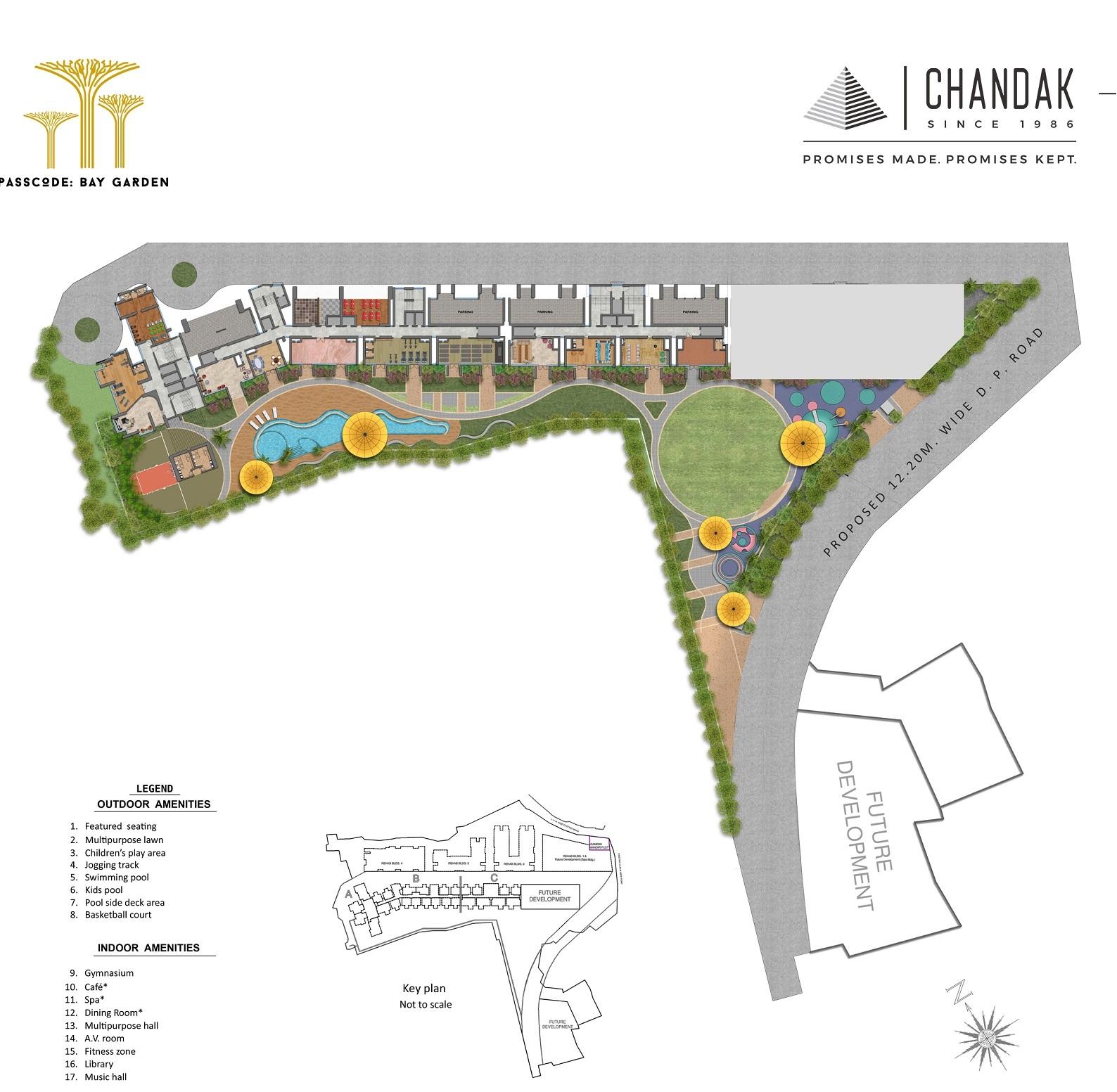 chandak 34 park estate project master plan image1