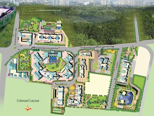 dosti group acres project master plan image1