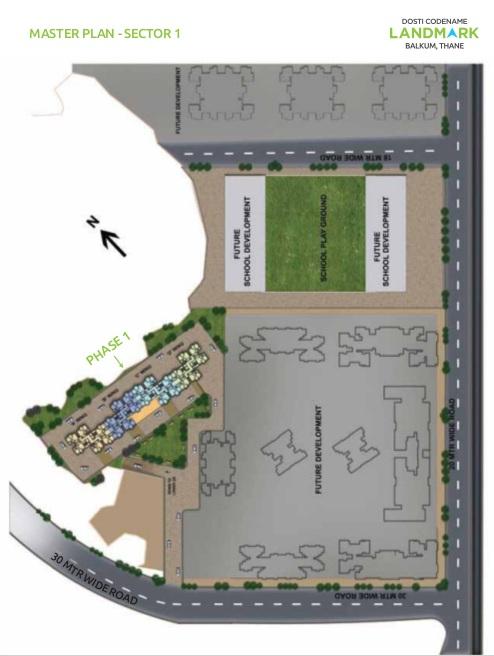 dosti group landmark project master plan image1