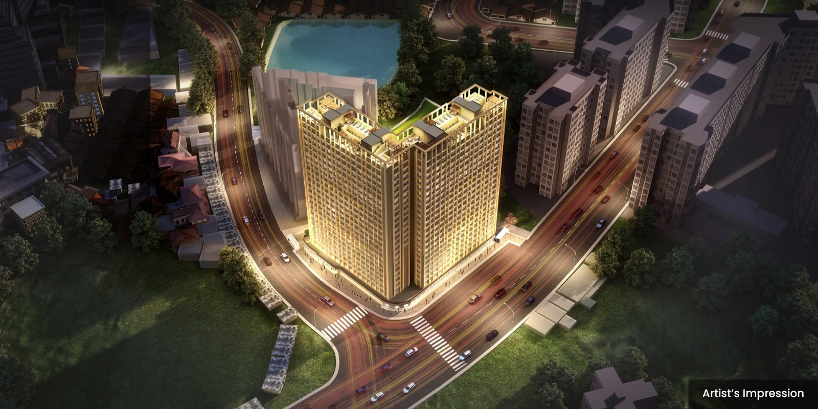 dosti oro 67 project tower view2