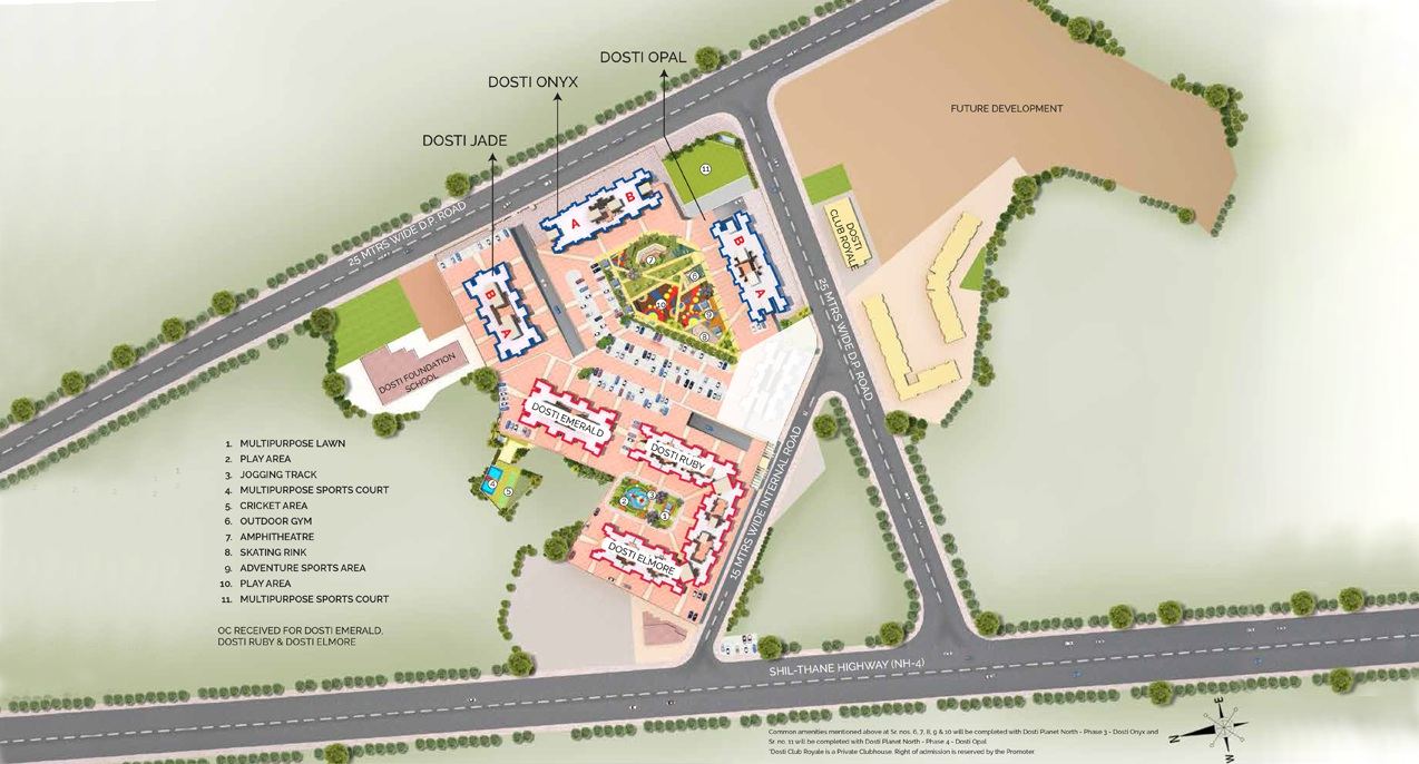 dosti planet north onyx project master plan image1