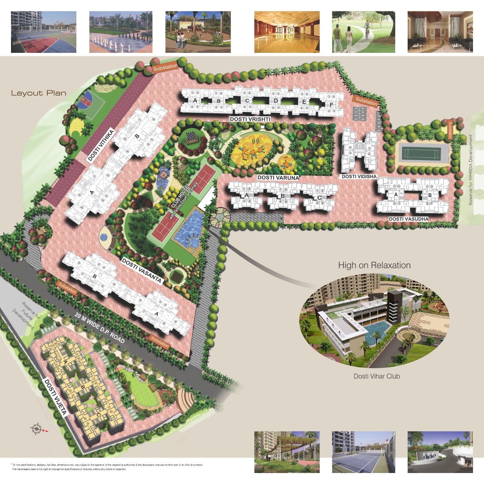 dosti vasudha project master plan image1