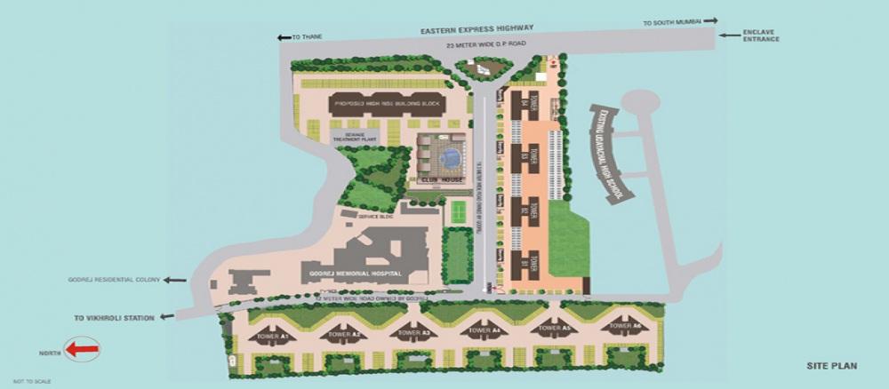 godrej garden enclave a type tower project master plan image1