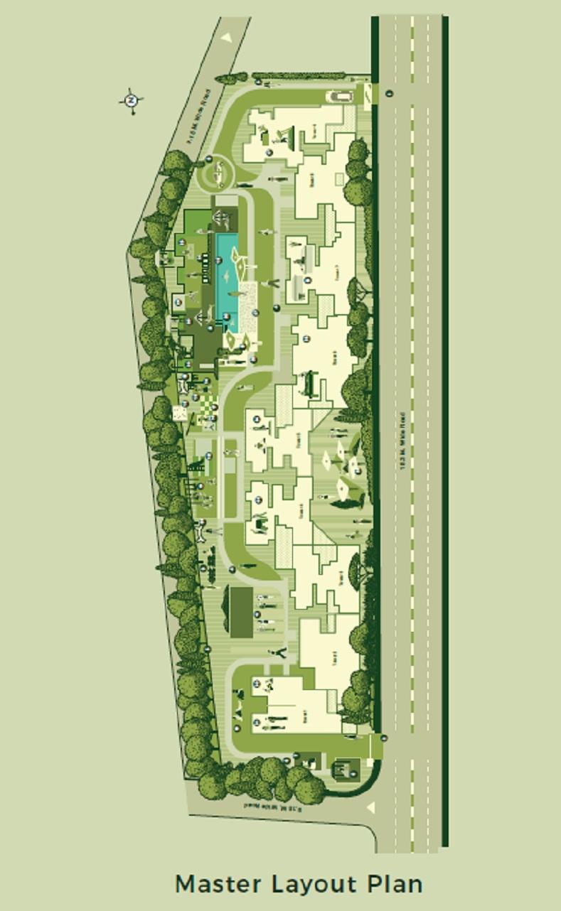 godrej urban park project master plan image1
