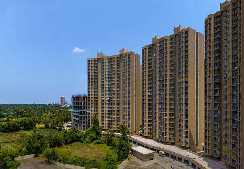 gurukrupa marina enclave wings m n phase ii project tower view2