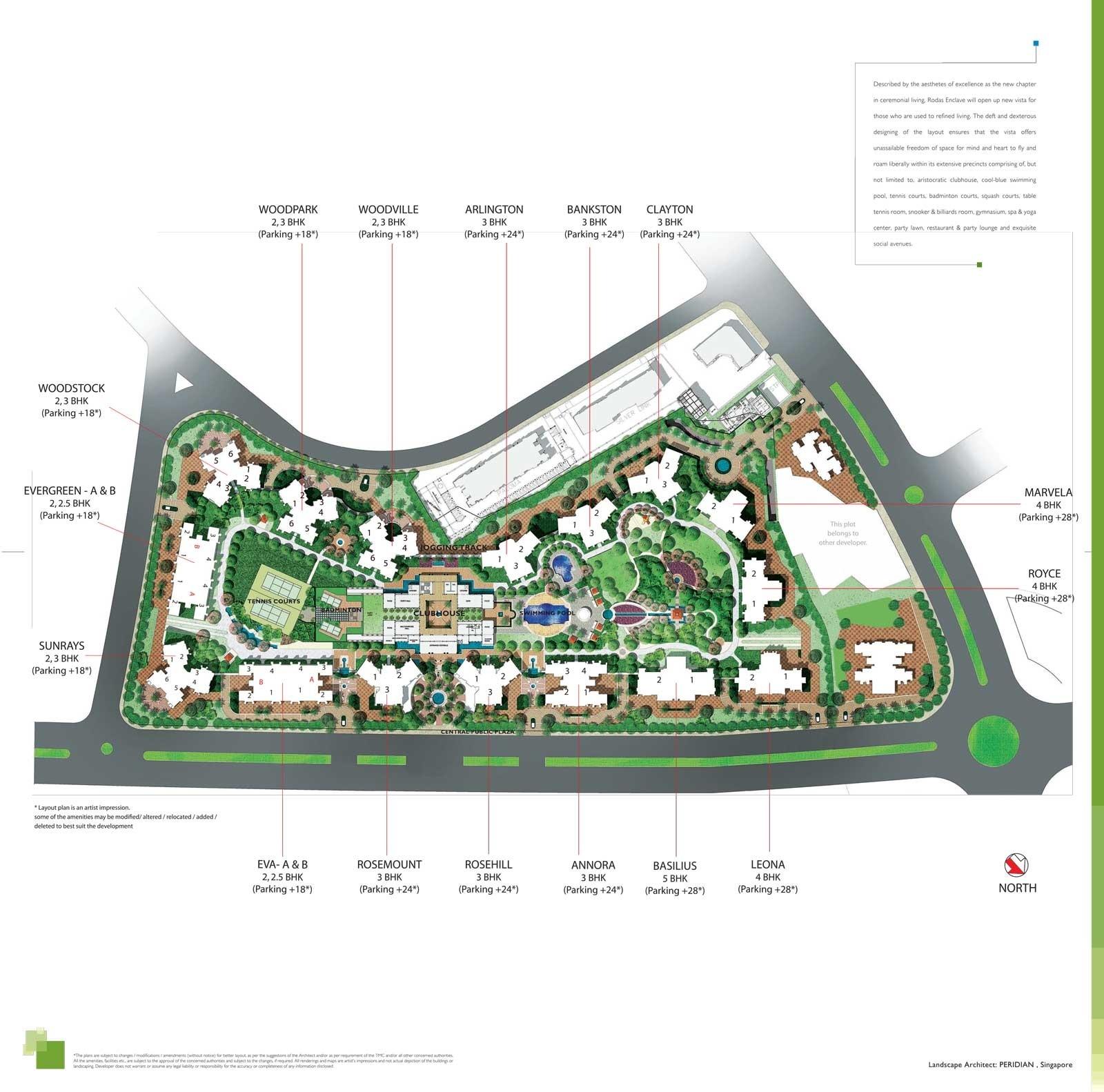 hiranandani basilius project master plan image1
