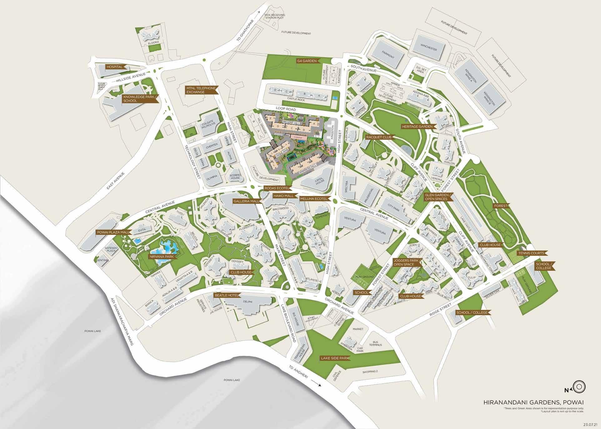 hiranandani glen dale project master plan image1