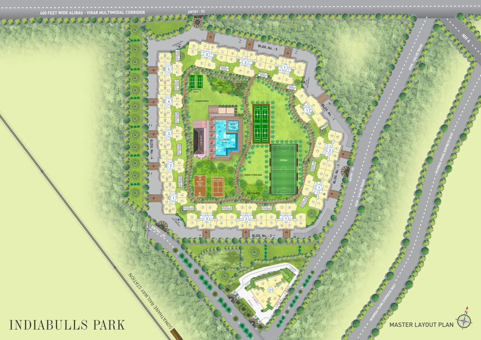 indiabulls park master plan image1