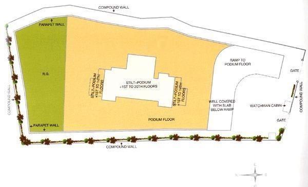k raheja corp brooke ville project master plan image1
