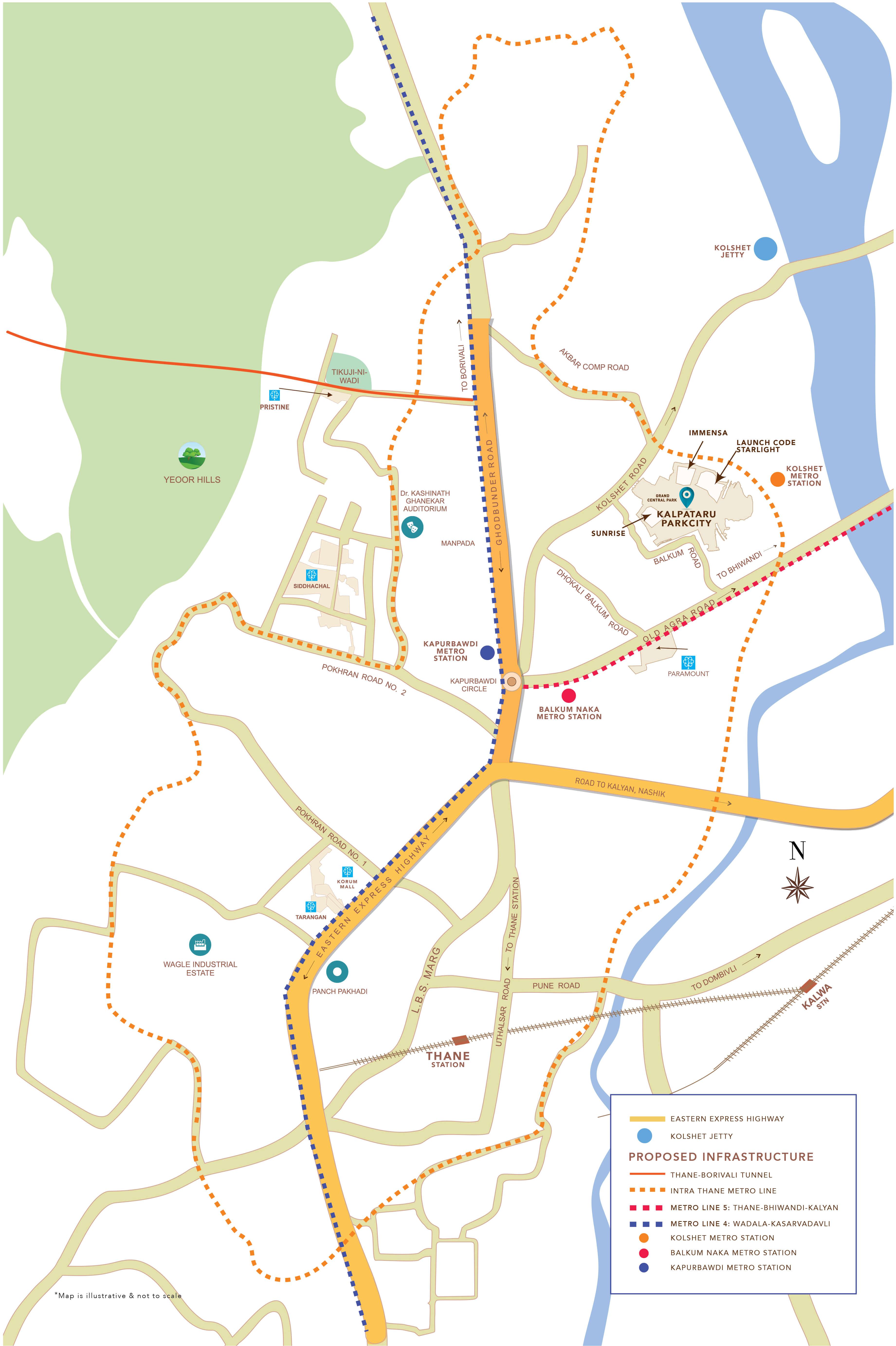 kalpataru parkcity sunrise c location image4