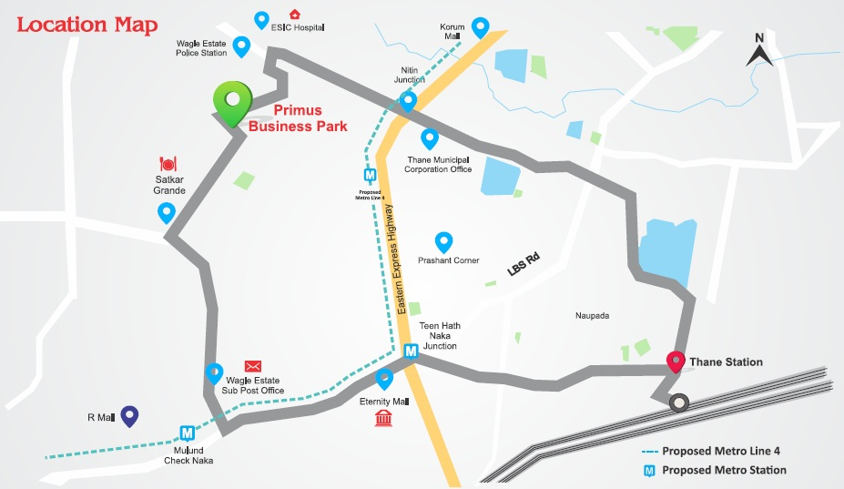 kashikar primus business park location image4