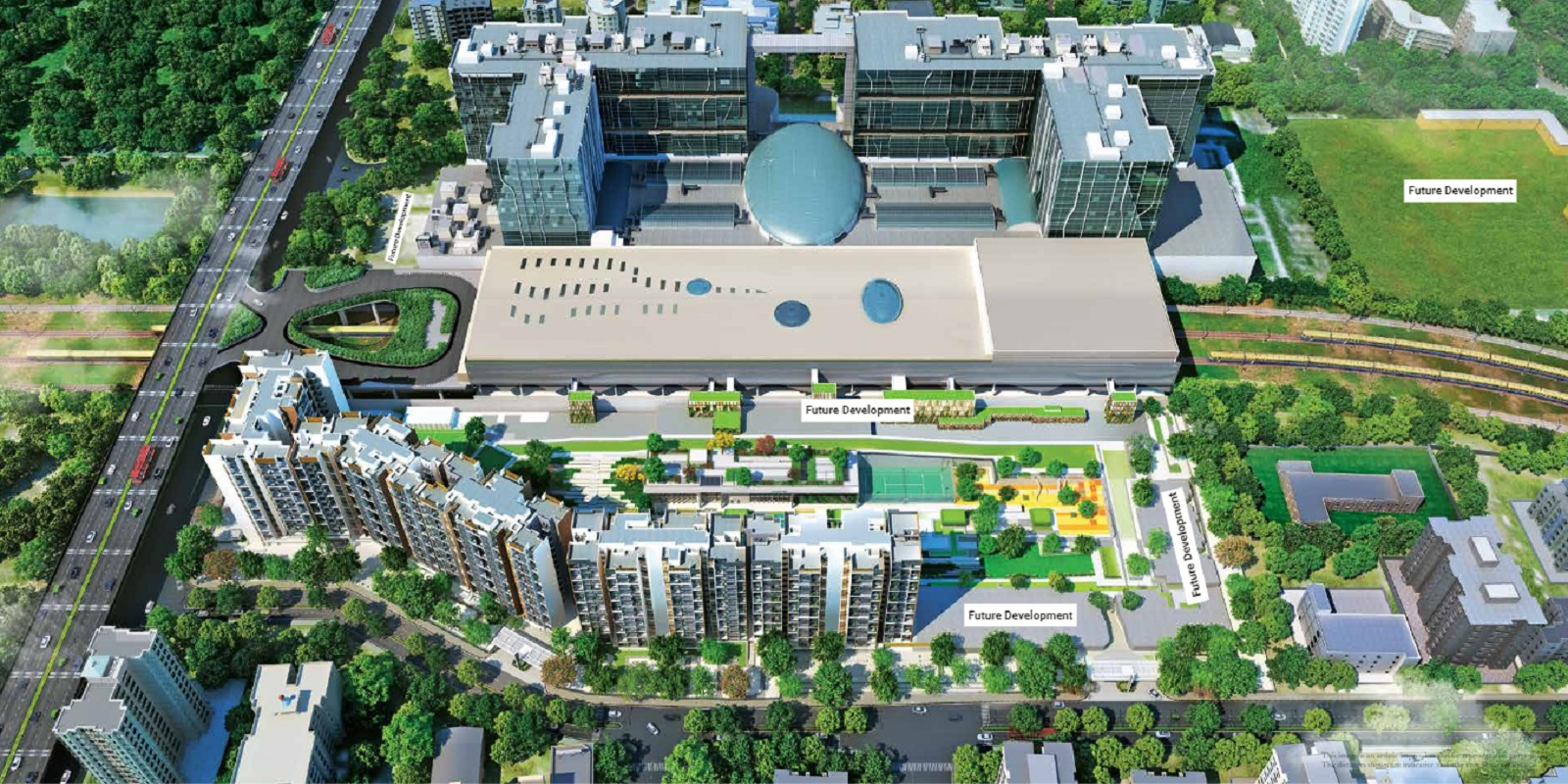l and t seawoods residences project tower view1