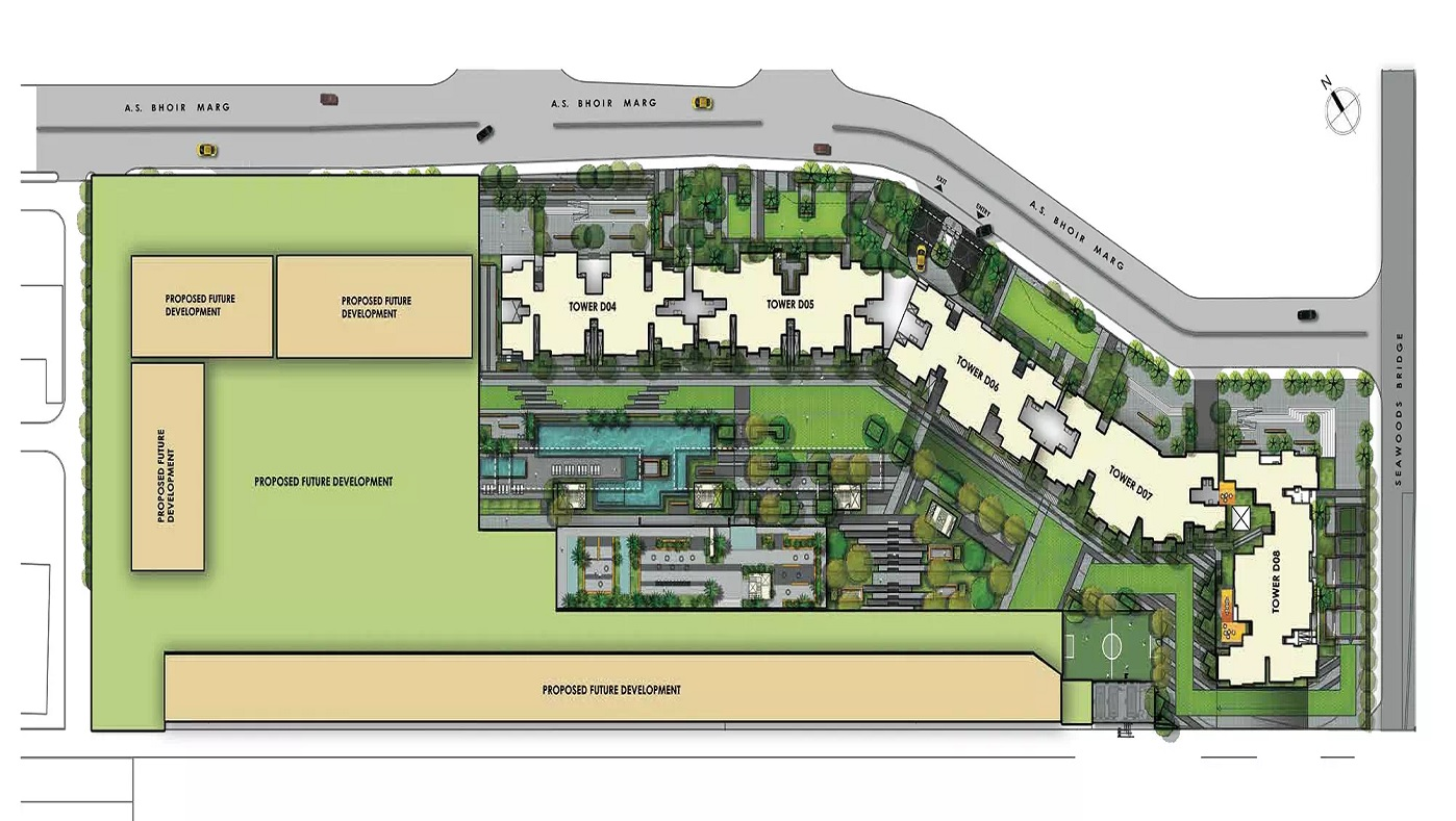 l t seawoods residences phase 1 part a master plan image7