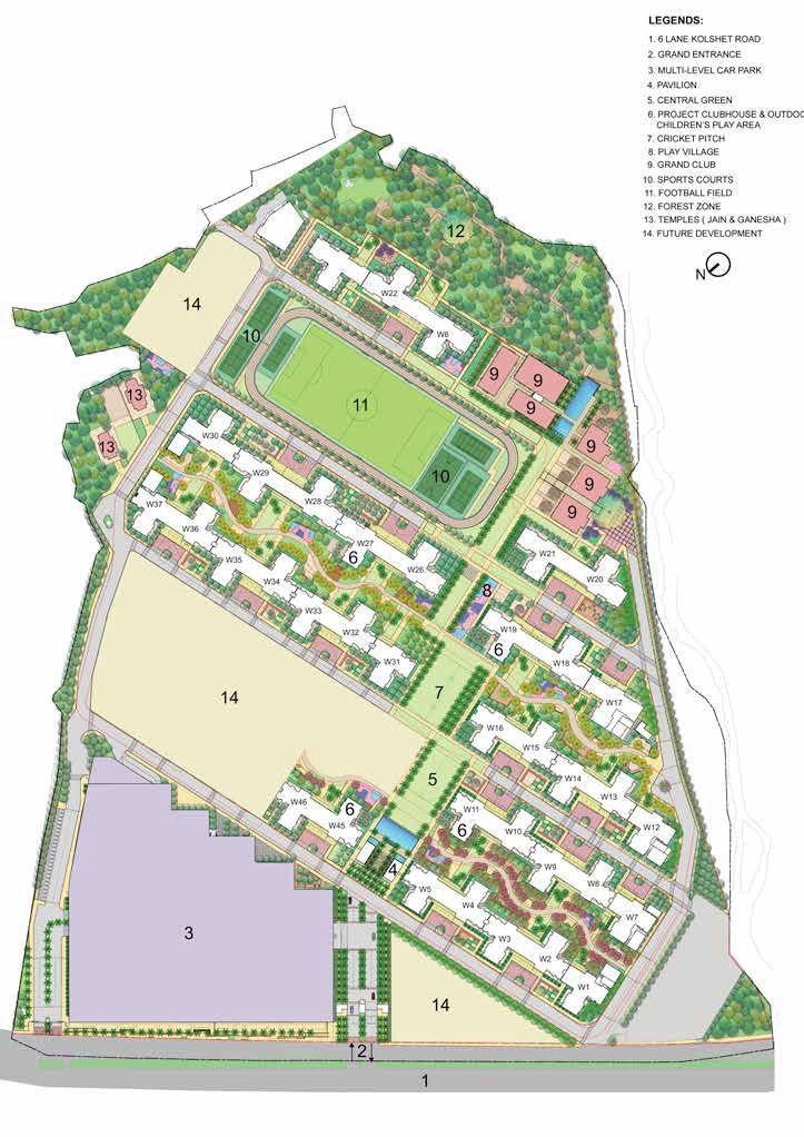 lodha amara tower 38 and 39 master plan image4