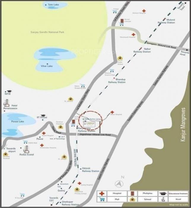 lodha augusta project location image1