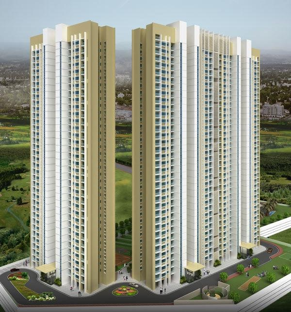 lodha aurum project tower view1