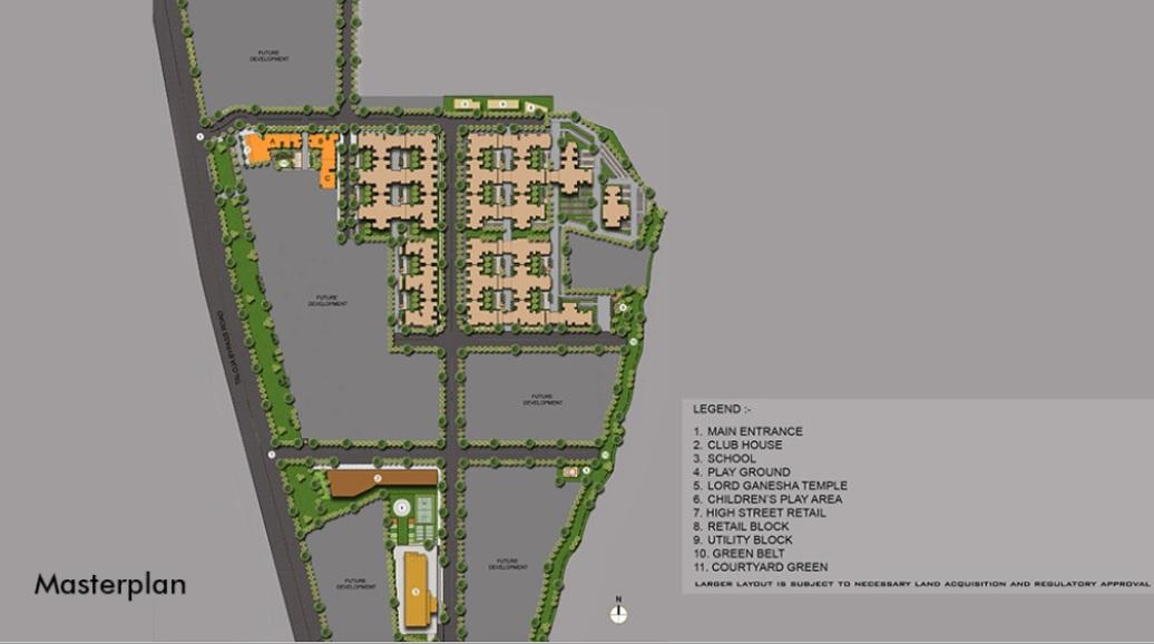 lodha crown taloja quality homes project master plan image1