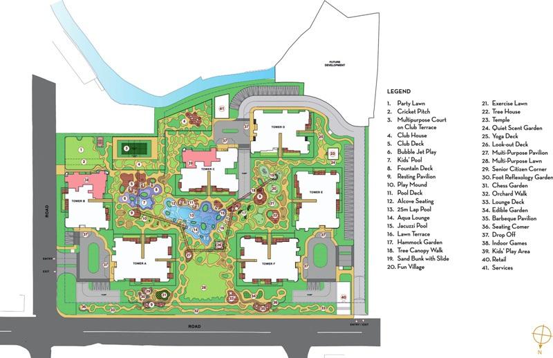 lodha patel estate tower a and b master plan image5