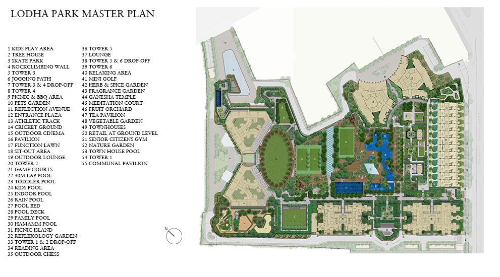 lodha the park tower 6 master plan image4