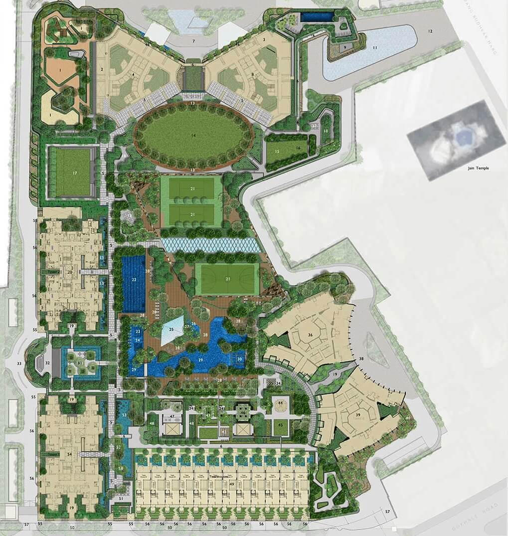 lodha trump tower master plan image1