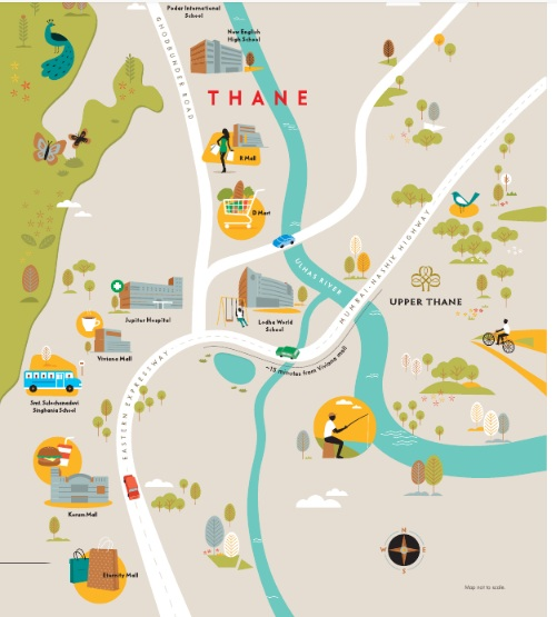 lodha upper thane woodlands e and f location image4