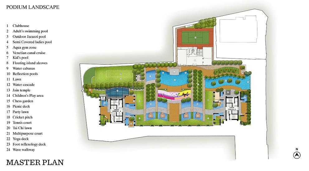 lodha venezia project master plan image1