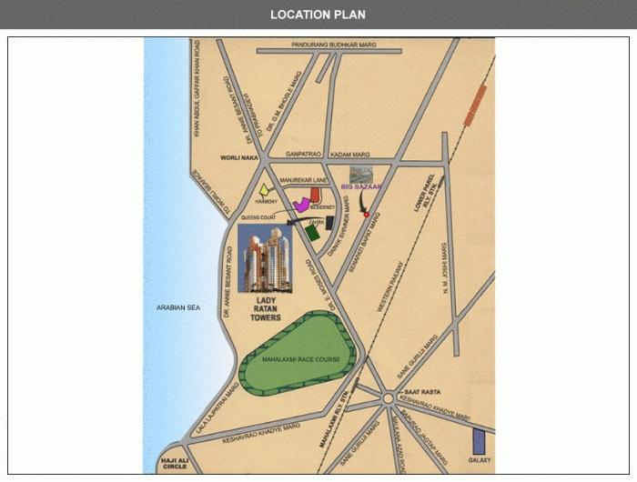 lokhandwala infrastructure lady ratan tower project location image1