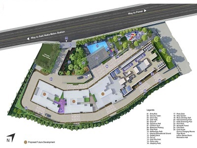 mahindra alcove wing d and e project master plan image1