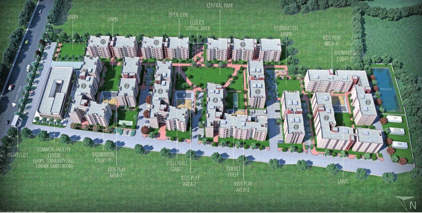 mahindra lifespaces happinest boisar project master plan image1