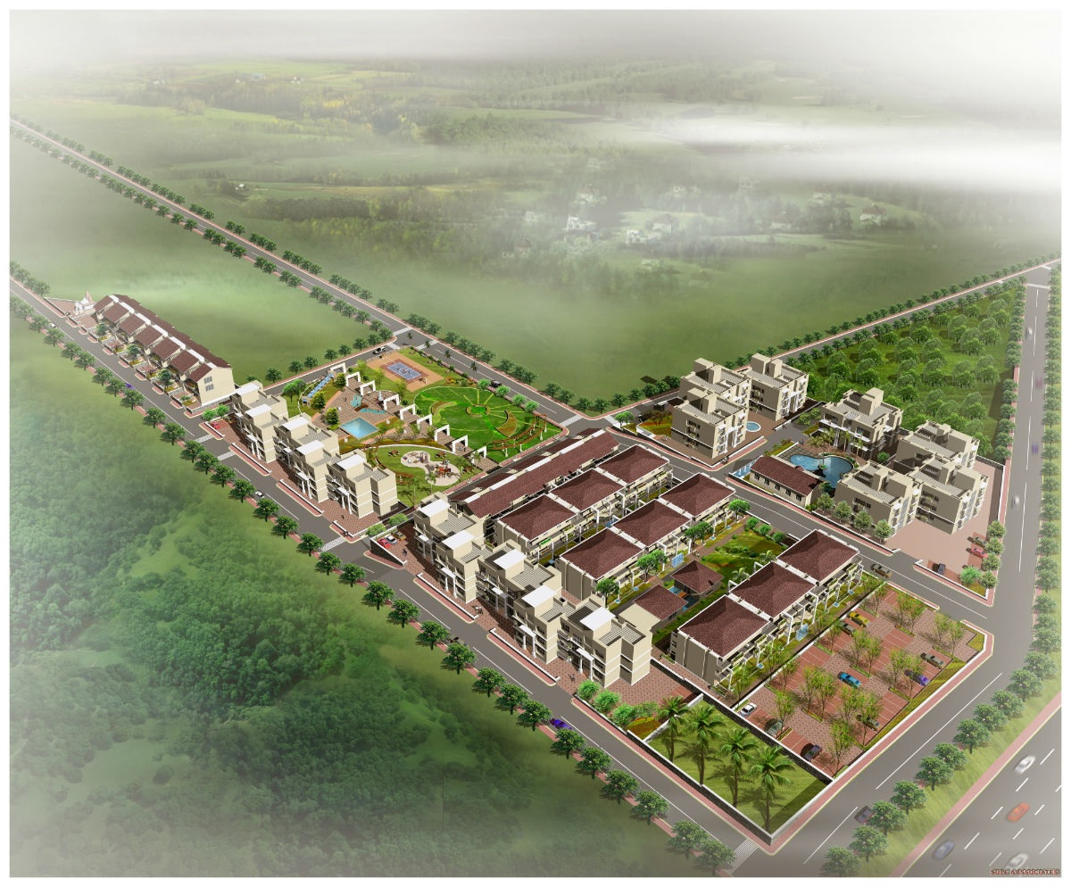 manas luxuria project tower view1