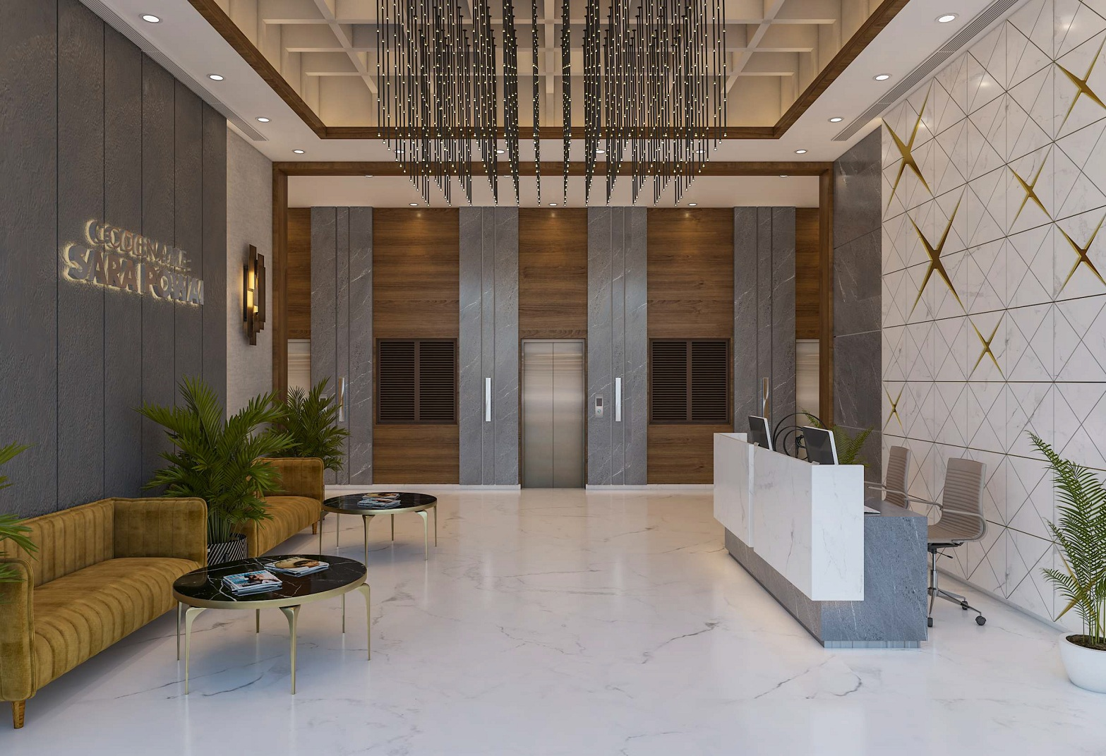 mayfair codename sara powai project lift lobby image1