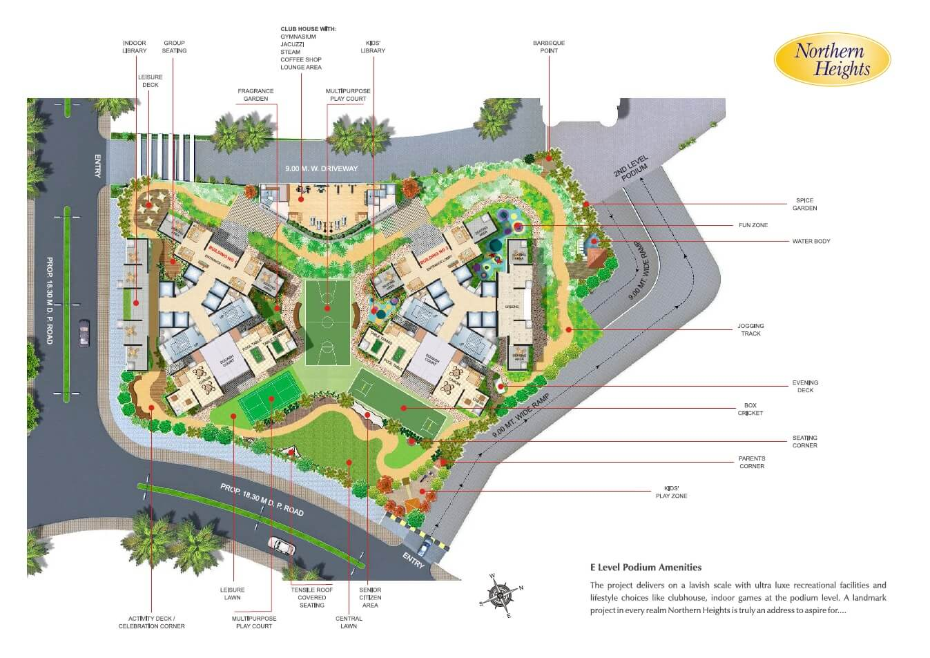 n rose northern heights master plan image1