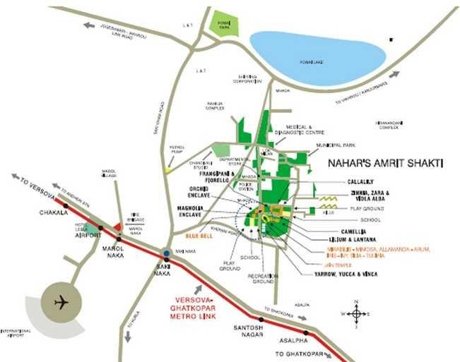 nahar amrit shakti villa project location image1