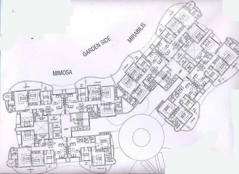 nahar mimosa and mirabilis project master plan image1
