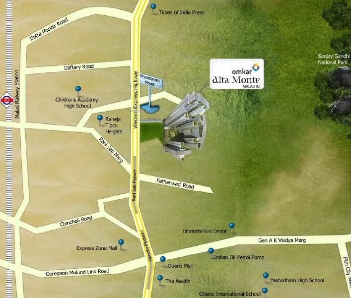 omkar alta monte location image1